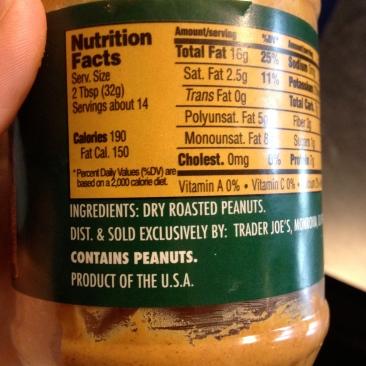 One ingredient: peanuts